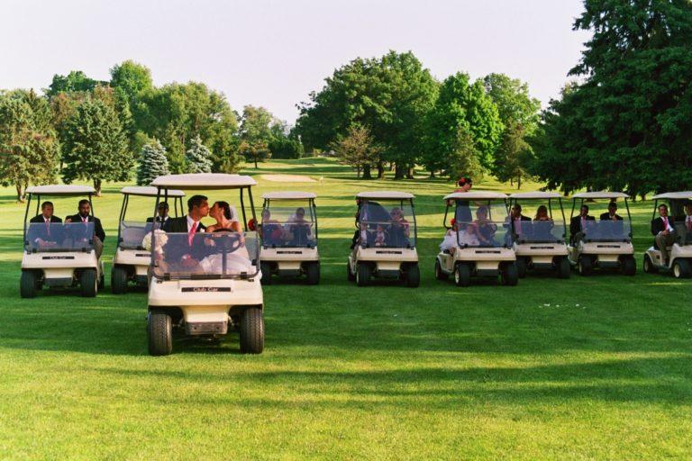 Bridal Party Golf Cart
